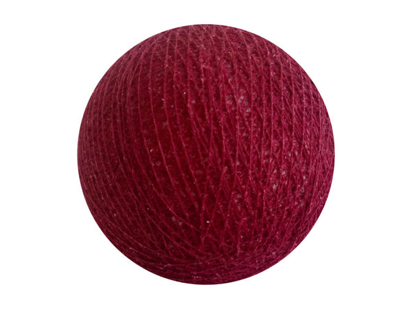 Bindi Cotton Ball Lantern Burgandy