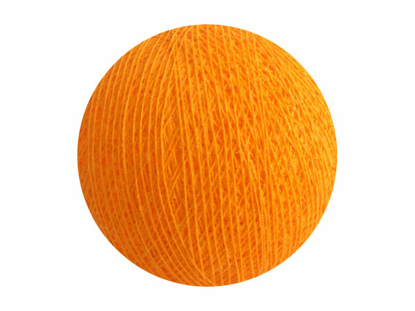 Bindi Cotton Ball Lantern Golden Orange