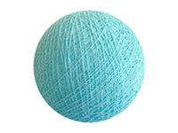 Bindi Cotton Ball Lantern Light Blue