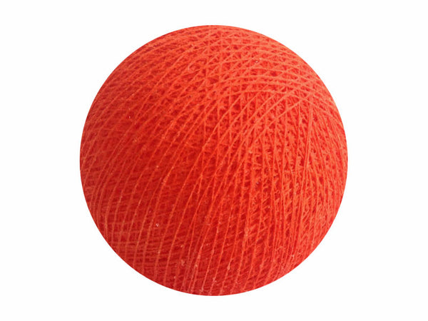 Bindi Cotton Ball Lantern Dark Orange