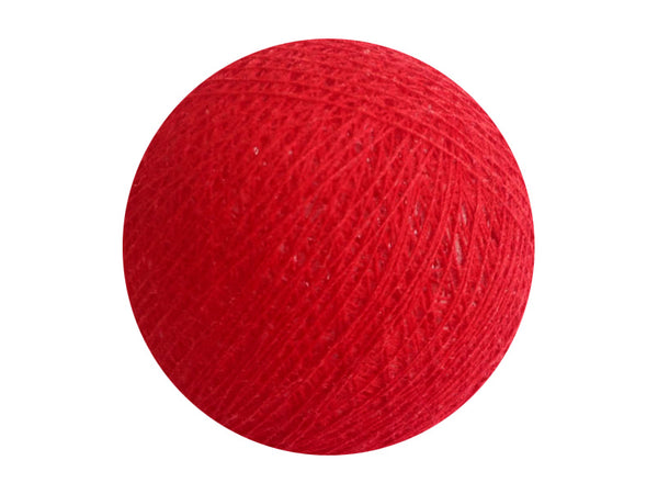 Bindi Cotton Ball Lantern Red