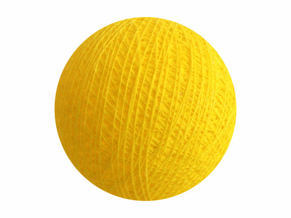 Bindi Cotton Ball Lantern Yellow
