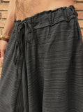Black Line Pattern Samurai Pants - Seconds