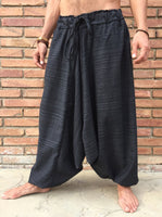 Black Line Pattern Samurai Pants