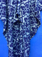 Indigo Ikat Kaftan Dress