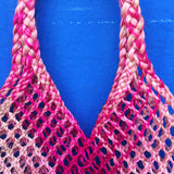 Thai Hand Woven Hyacinth Bag, Pink