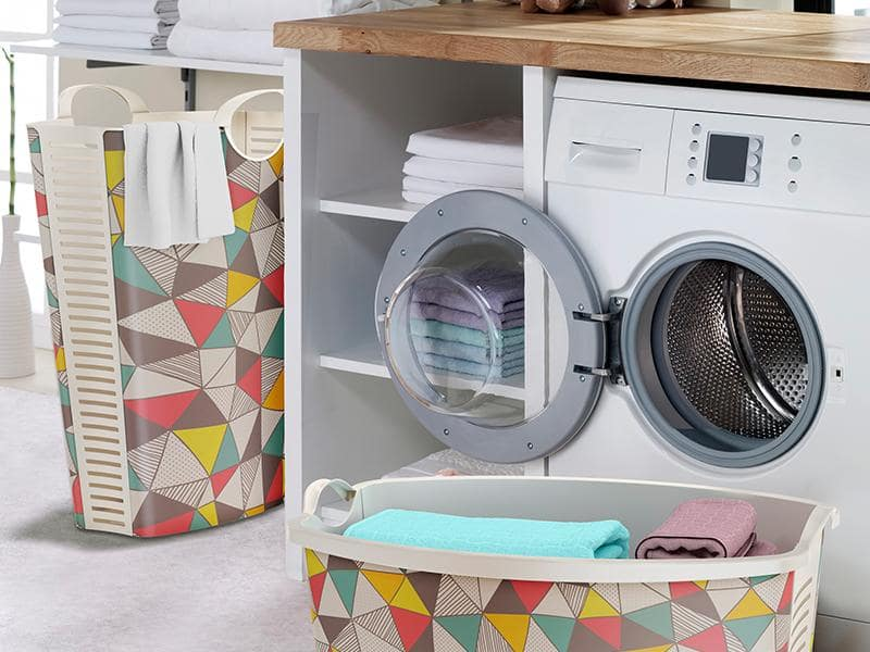 White Laundry Baskets and Beyond: Storage Ideas for the Home