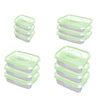 Image of Food Plastic Container - Gold Keeper -  BPA Free - Set Of 12 Pcs