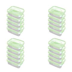 Food Plastic Container - plastic containers with lids - Set Of 20 Pcs