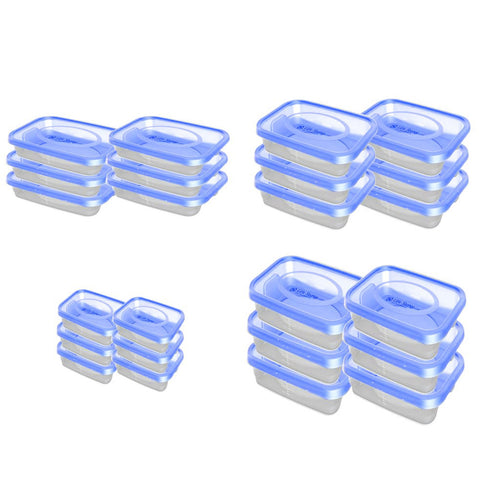 Food Plastic Container - Gold Keeper -  BPA Free - Set Of 24 Pcs