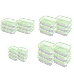 Food Plastic Container - plastic containers with lids - Set Of 24 Pcs