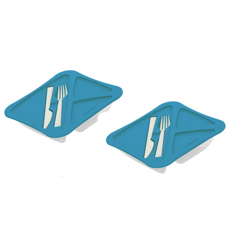 Pack of 2-  Lunch Time - Lunch Box With Fork And Knife