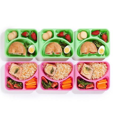 SET of 9 Colored Reusable-Easy To Clean Lunch Boxes