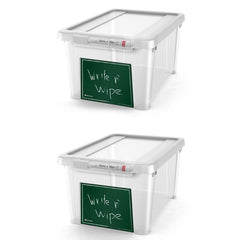 Write n' Wipe - Plastic Storage Box With Erase marker - 5L - Pack of 2