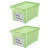 Image of Write n' Wipe - Plastic Storage Box With Erase marker - 5L - Pack of 2