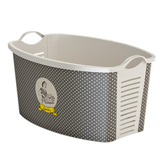 "Gray Laundry Basket ""Brown Vintage Woman"" laundry bin"