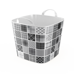 Stylish TUB  -25L- Storage Basket / Black & White  Design