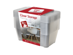 plastic storage box clear