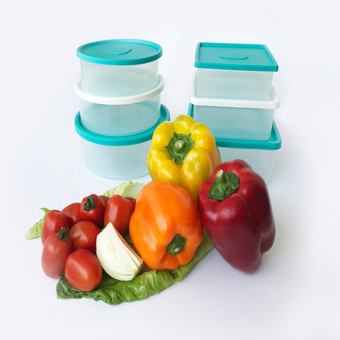 Combo 6 Food Containers - Plastic Boxes -  Fit In Each Other