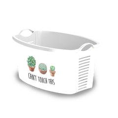 "White Laundry Basket ""Cactus"" laundry bin"