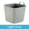 Image of grey plastic storage boxes with lids