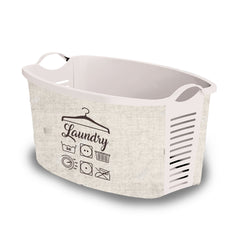 "White Laundry Basket  ""Retro"" laundry bin"