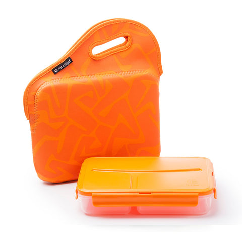 Pret A Paquet Lunchbox With Handle - Orange
