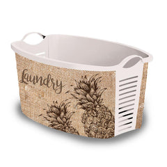 "Plastic laundry basket ""Pineapple"" vintage laundry basket uk"