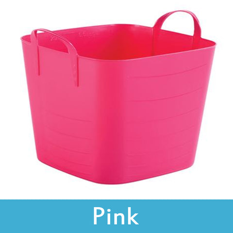 pink plastic storage boxes with lids