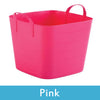 Image of pink plastic storage boxes with lids
