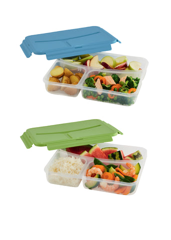 2 Prêt-à-Paquet divided Lunch Boxes