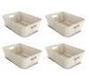 Image of Set Of 4 - Small Craft Basket - Natural Design - Multi functional - Stylish At Home
