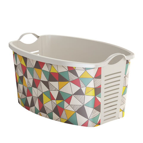 "Plastic laundry basket ""Triangle Design"" vintage laundry basket uk"