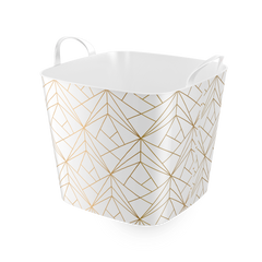 Stylish TUB  -25L- Storage Basket / Gold Line Design