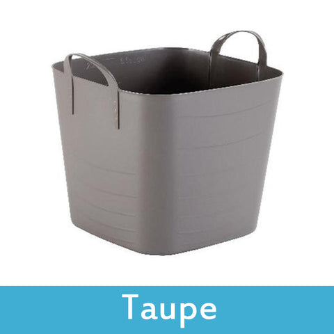 taupe plastic storage boxes with lids