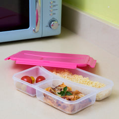 Insulated lunch box | Pret A Paquet pink & White lunch box with handle