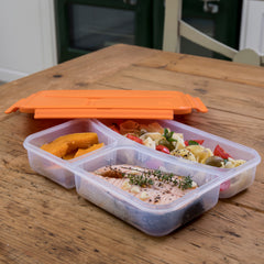 Insulated lunch box | Pret A Paquet orange lunch box with handle