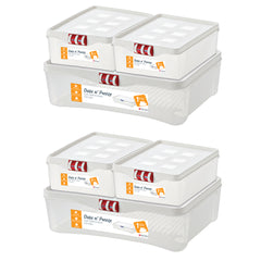 Date n' Freeze - Food Storage Box For Fridge - 6 Pcs Set