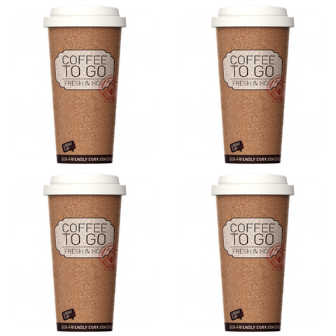 Travel coffee mug Corky Cup - Leak Proof Set Of 4