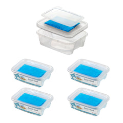 Pack of 4 - Lunch Boxes With Ice Pack Inside - 1.9L -  Be Stylish & Efficient At The Same Time -