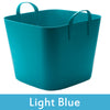 Image of blue plastic storage boxes with lids