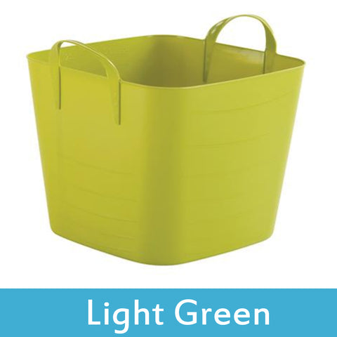 green plastic storage boxes with lids