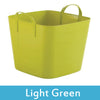 Image of green plastic storage boxes with lids