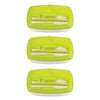 Image of Pack of 3 -  Lunch Break - Plastic Cutlery Included - Stylish & Practical to Eat at Work - Green