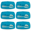 Image of Pack of 6 - Lunch Break - Plastic Cutlery Included - Stylish & Practical to Eat at Work - Blue