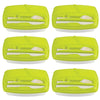 Image of Pack of 6 - Lunch Break - Plastic Cutlery Included - Stylish & Practical to Eat at Work - Green