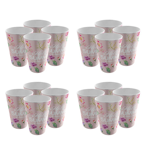 Pack of 16 Trendy Party Cup - Strong Plastic - Recyclable - Perfect For The Beach