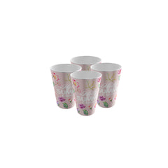 Pack of 4 Trendy Party Cup - Strong Plastic - Recyclable - Perfect For The Beach Party