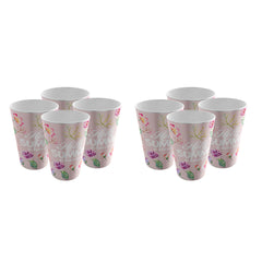 Pack of 8 Trendy Party Cup - Strong Plastic - Recyclable - Perfect For The Beach