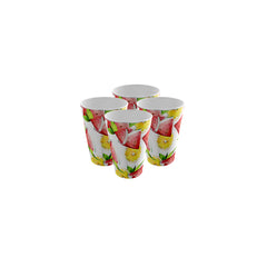 Pack of 4 Trendy Party Cup - Strong Plastic - Recyclable - Perfect For Your Parties